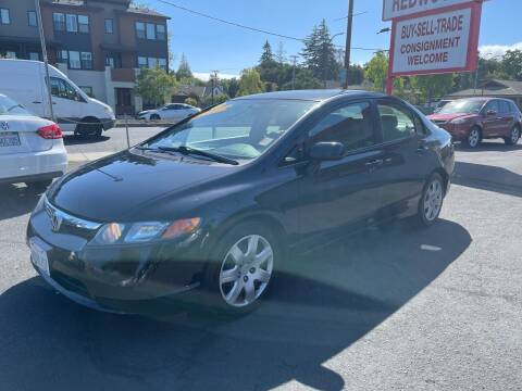 2008 Honda Civic for sale at Redwood City Auto Sales in Redwood City CA