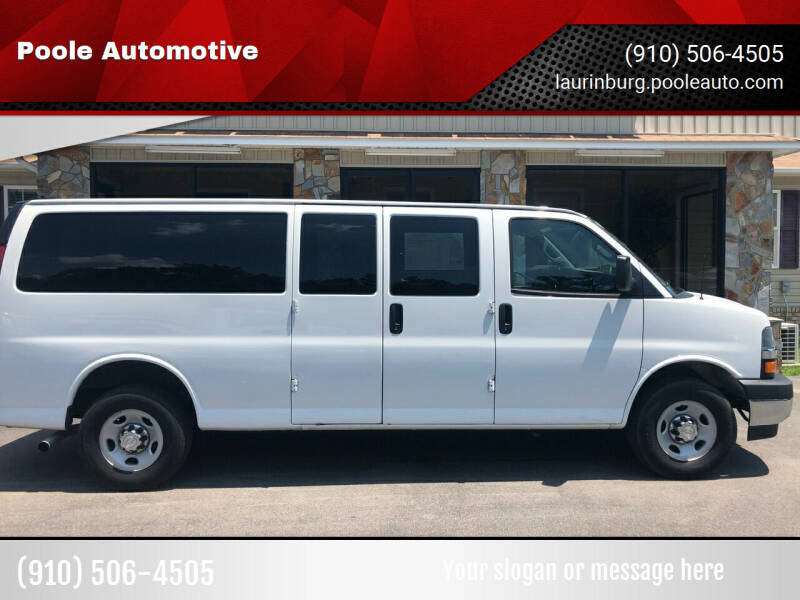 2017 Chevrolet Express Passenger for sale at Poole Automotive in Laurinburg NC