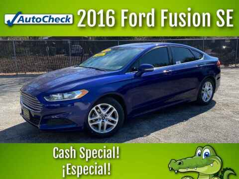 2016 Ford Fusion for sale at LIQUIDATORS in Houston TX