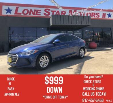2018 Hyundai Elantra for sale at LONE STAR MOTORS II in Fort Worth TX