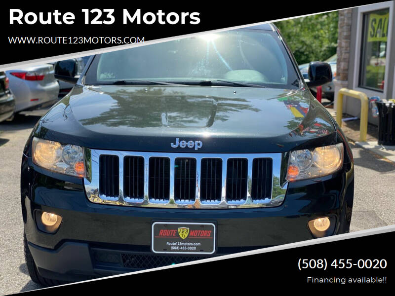 2012 Jeep Grand Cherokee for sale at Route 123 Motors in Norton MA