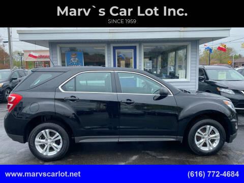 2016 Chevrolet Equinox for sale at Marv`s Car Lot Inc. in Zeeland MI