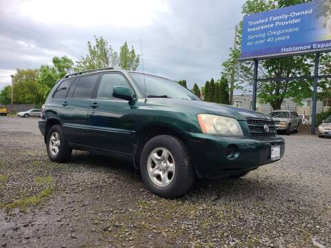 2002 Toyota Highlander for sale at Universal Auto Sales in Salem OR