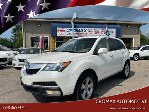 2010 Acura MDX for sale at Cromax Automotive in Ann Arbor MI