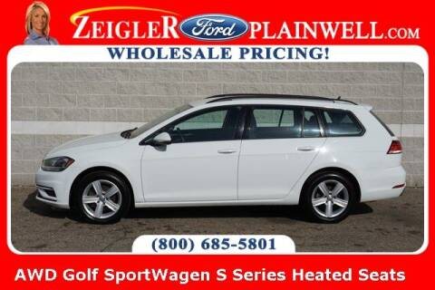 2019 Volkswagen Golf SportWagen for sale at Zeigler Ford of Plainwell- Jeff Bishop in Plainwell MI