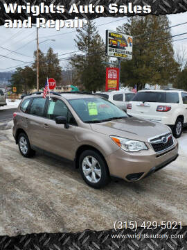 2015 Subaru Forester for sale at Wrights Auto Sales and Repair in Dolgeville NY