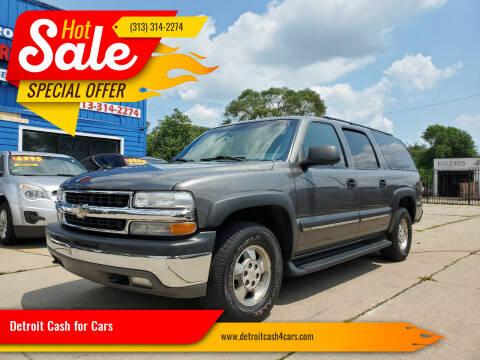 2002 Chevrolet Suburban for sale at Detroit Cash for Cars in Warren MI