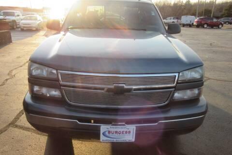 2006 Chevrolet Silverado 1500 for sale at Burgess Motors Inc in Michigan City IN