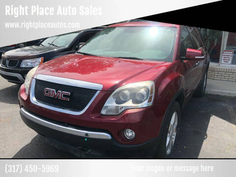 2007 GMC Acadia for sale at Right Place Auto Sales in Indianapolis IN