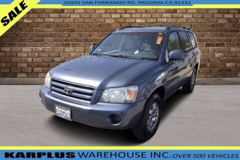 2005 Toyota Highlander for sale at Karplus Warehouse in Pacoima CA