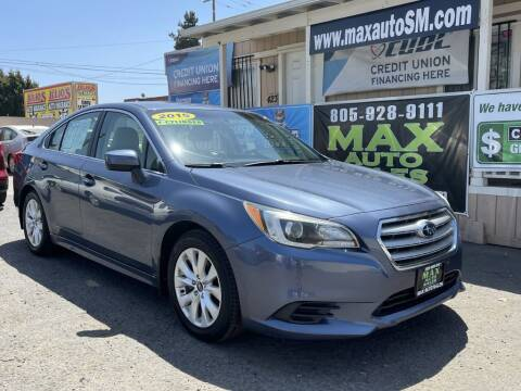 2015 Subaru Legacy for sale at Max Auto Sales in Santa Maria CA
