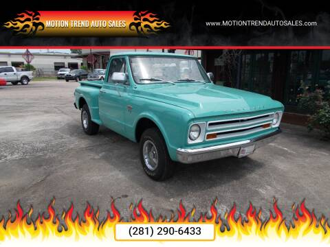 1967 Chevrolet C/K 10 Series for sale at MOTION TREND AUTO SALES in Tomball TX