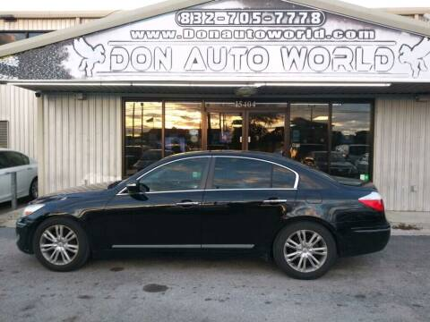 2009 Hyundai Genesis for sale at Don Auto World in Houston TX