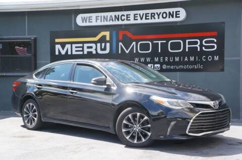 2016 Toyota Avalon for sale at Meru Motors in Hollywood FL