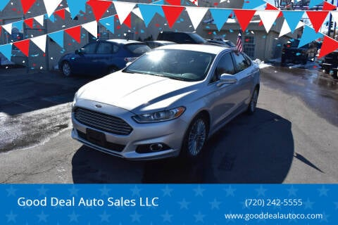 2015 Ford Fusion for sale at Good Deal Auto Sales LLC in Denver CO