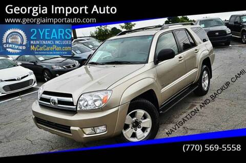 2005 Toyota 4Runner for sale at Georgia Import Auto in Alpharetta GA