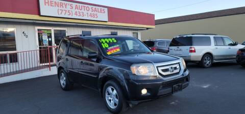 2010 Honda Pilot for sale at Henry's Autosales, LLC in Reno NV