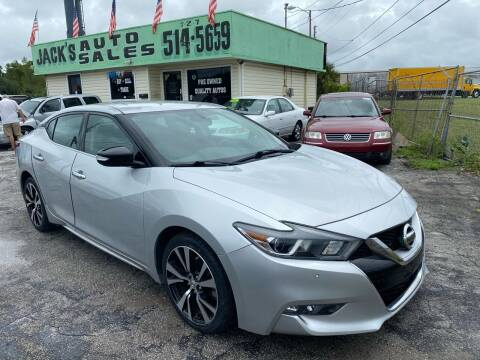 2017 Nissan Maxima for sale at Jack's Auto Sales in Port Richey FL