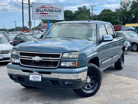 2007 Chevrolet Silverado 1500 Classic for sale at Supreme Auto Sales in Chesapeake VA