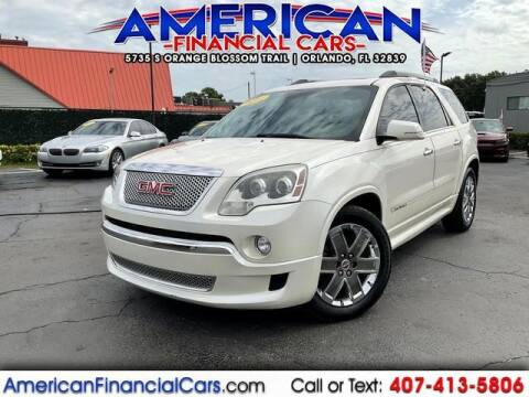 2011 GMC Acadia for sale at American Financial Cars in Orlando FL