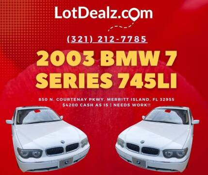 2003 BMW 7 Series for sale at ROCKLEDGE in Rockledge FL