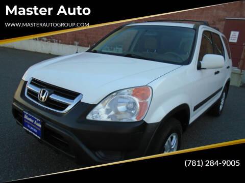 2002 Honda CR-V for sale at Master Auto in Revere MA