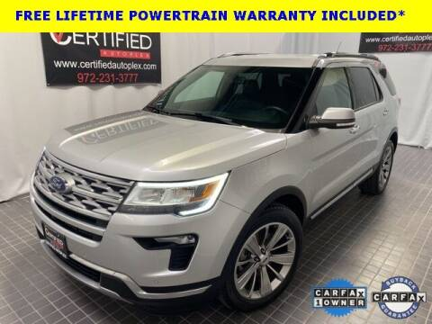 2018 Ford Explorer for sale at CERTIFIED AUTOPLEX INC in Dallas TX