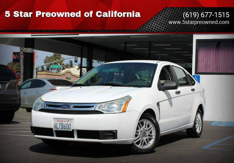 2008 Ford Focus for sale at 5 Star Preowned of California in Chula Vista CA