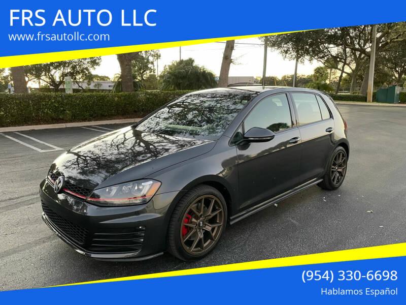2015 Volkswagen Golf GTI for sale at FRS AUTO LLC in West Palm Beach FL