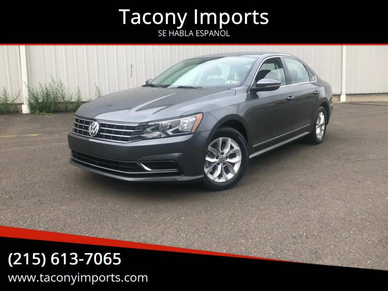 2017 Volkswagen Passat for sale at Tacony Imports in Philadelphia PA