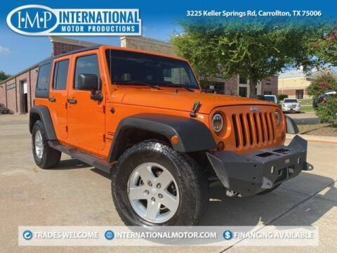 2013 Jeep Wrangler Unlimited for sale at International Motor Productions in Carrollton TX