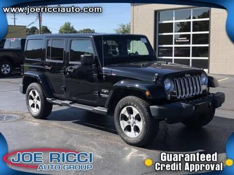 2017 Jeep Wrangler Unlimited for sale at JOE RICCI AUTOMOTIVE in Clinton Township MI