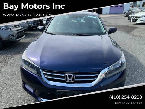 2015 Honda Accord for sale at Bay Motors Inc in Baltimore MD