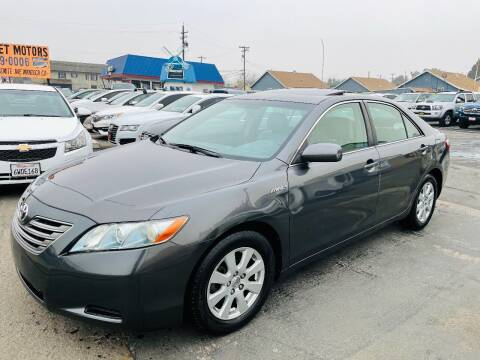 2007 Toyota Camry Hybrid for sale at Sunset Motors in Manteca CA