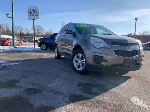 2012 Chevrolet Equinox for sale at Peak Motors in Loves Park IL