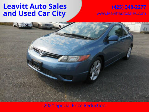 2007 Honda Civic for sale at Leavitt Auto Sales and Used Car City in Everett WA