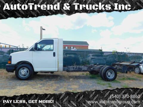 2010 Chevrolet Express Cutaway for sale at AutoTrend & Trucks Inc in Fredericksburg VA