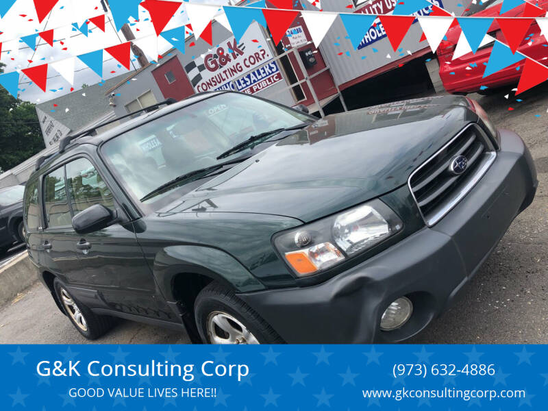 2003 Subaru Forester for sale at G&K Consulting Corp in Fair Lawn NJ