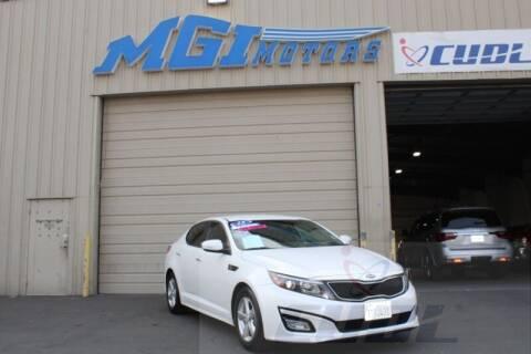 2015 Kia Optima for sale at MGI Motors in Sacramento CA
