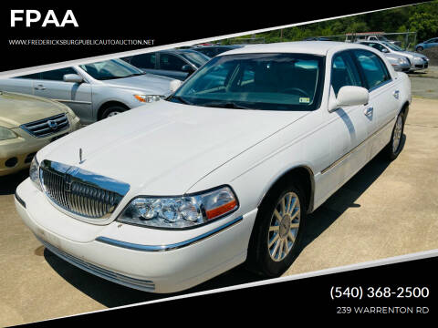 2006 Lincoln Town Car for sale at FPAA in Fredericksburg VA