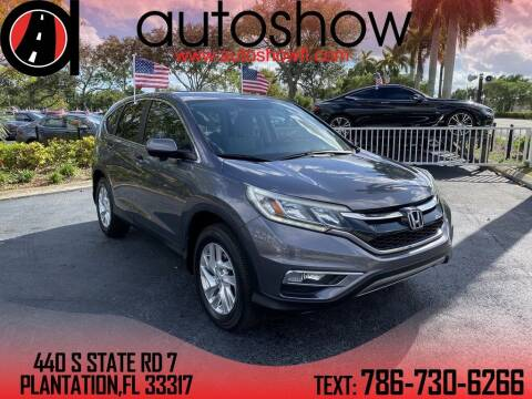 2015 Honda CR-V for sale at AUTOSHOW SALES & SERVICE in Plantation FL