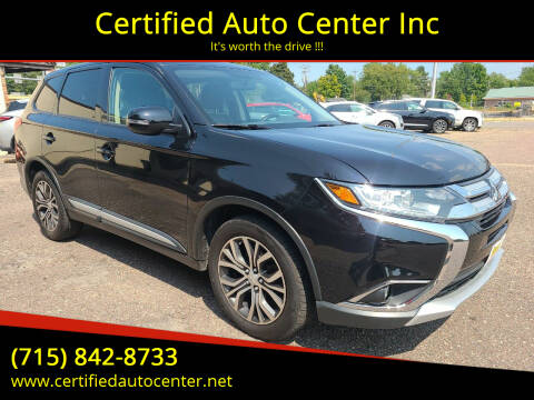 2016 Mitsubishi Outlander for sale at Certified Auto Center Inc in Wausau WI