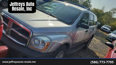 2006 Dodge Durango for sale at Jeffreys Auto Resale, Inc in Clinton Township MI