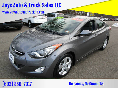 2013 Hyundai Elantra for sale at Jays Auto & Truck Sales LLC in Loudon NH