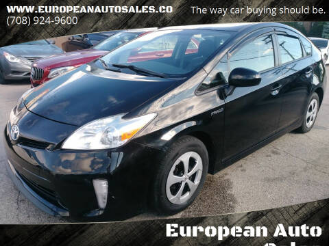 2015 Toyota Prius for sale at European Auto Sales in Bridgeview IL