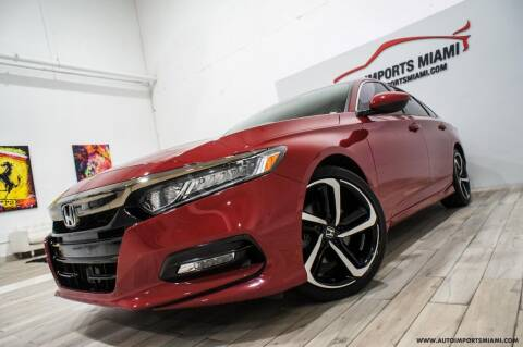 2019 Honda Accord for sale at AUTO IMPORTS MIAMI in Fort Lauderdale FL