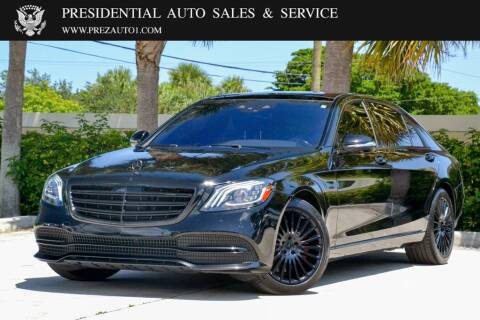 2019 Mercedes-Benz S-Class for sale at Presidential Auto  Sales & Service in Delray Beach FL