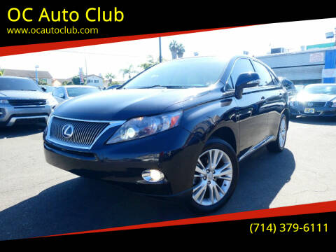 2011 Lexus RX 450h for sale at OC Auto Club in Midway City CA