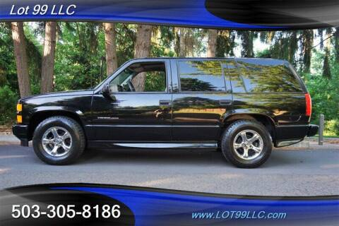 2000 Chevrolet Tahoe for sale at LOT 99 LLC in Milwaukie OR