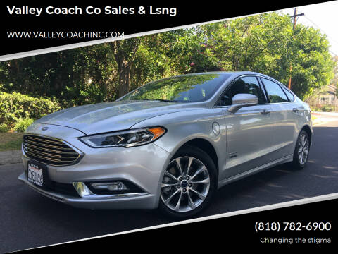 2017 Ford Fusion Energi for sale at Valley Coach Co Sales & Lsng in Van Nuys CA